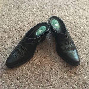 Ariat Western Boot Mules Black Turquoise Sz 7B